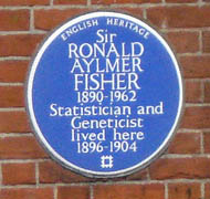 Blue plaque to Sir Ronald Aylmer Fisher