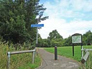 entrance to country park